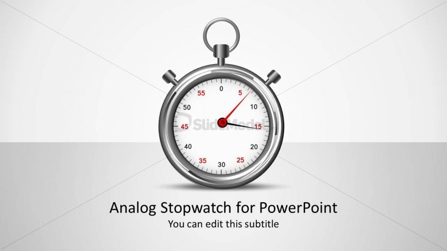 Analog Stopwatch PowerPoint Shapes