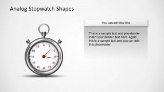 Analog Stopwatch Picture Slide for PowerPoint