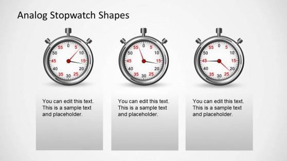 Analog Stopwatch PPT Shapes