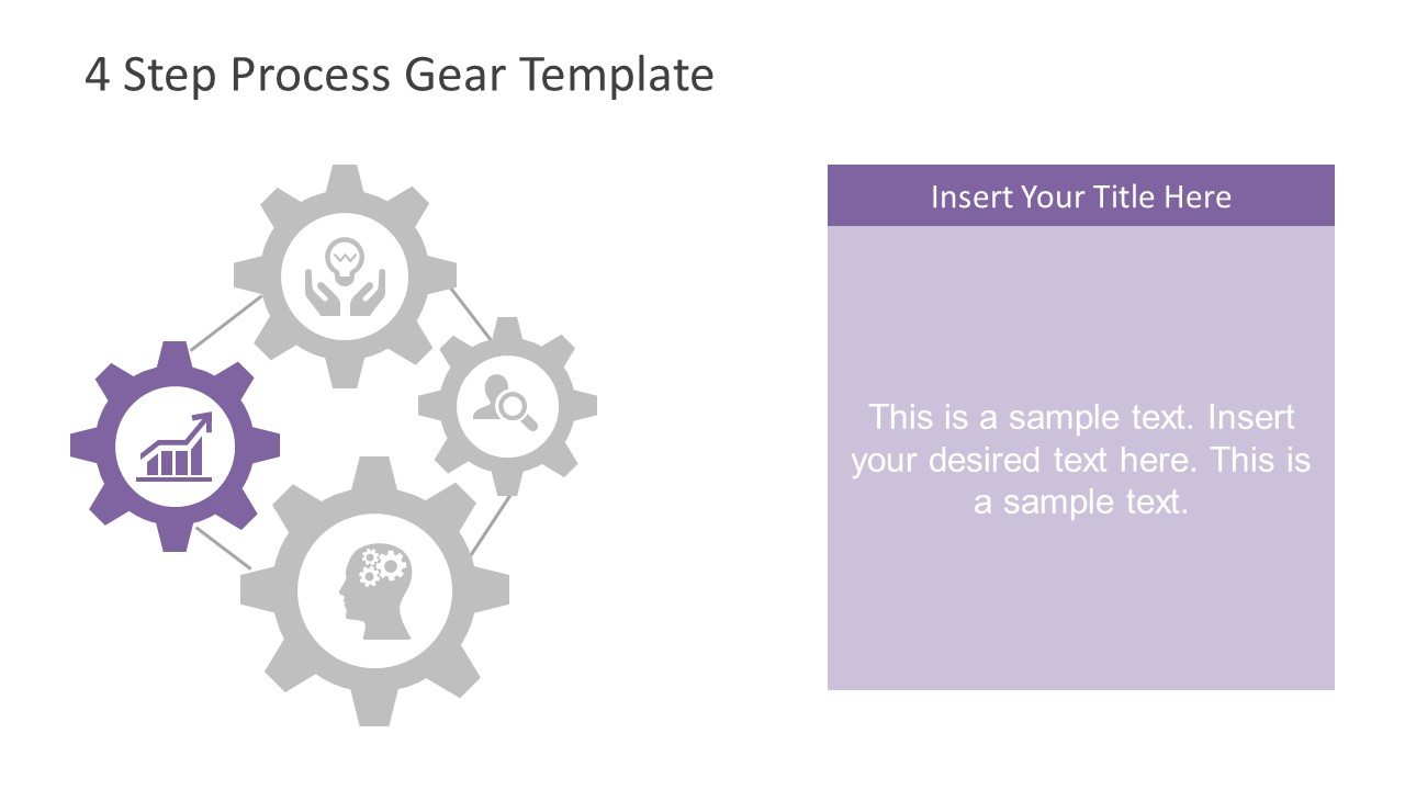 Trend Analysis PowerPoint Gear Diagram