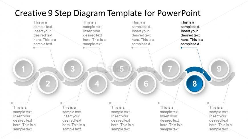 9 Steps PowerPoint Chevron Segments