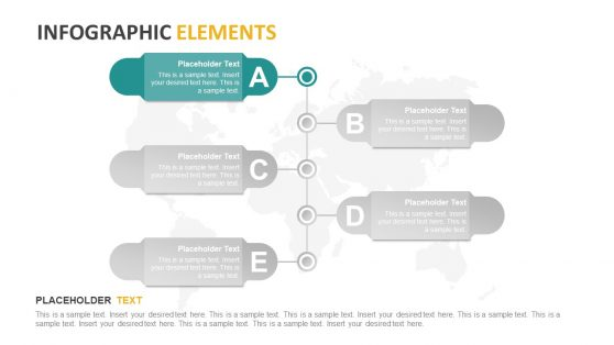 PowerPoint Diagram Design of 5 Steps