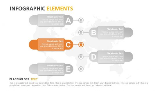 Inofgraphic Elements in 5 Steps Banner Timeline
