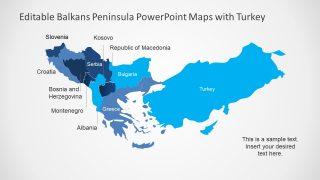 Peninsula In Europe Map.Balkans Peninsula Powerpoint Maps Slidemodel