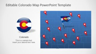 Colorado US State PowerPoint Map