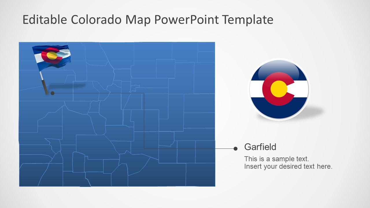 Colorado Us State Powerpoint Map Slidemodel
