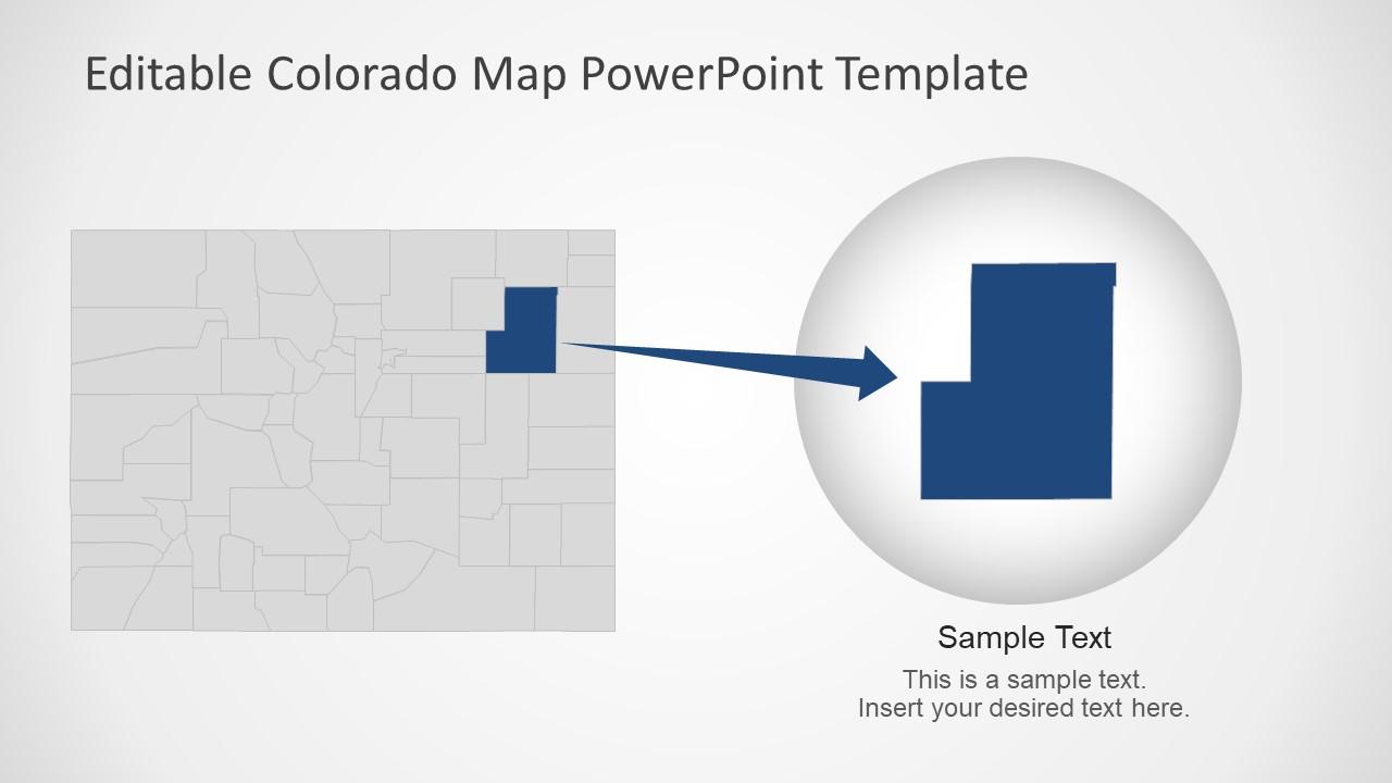 Editable Map Template of Colorado