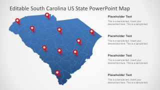 South Carolina US State PowerPoint Map