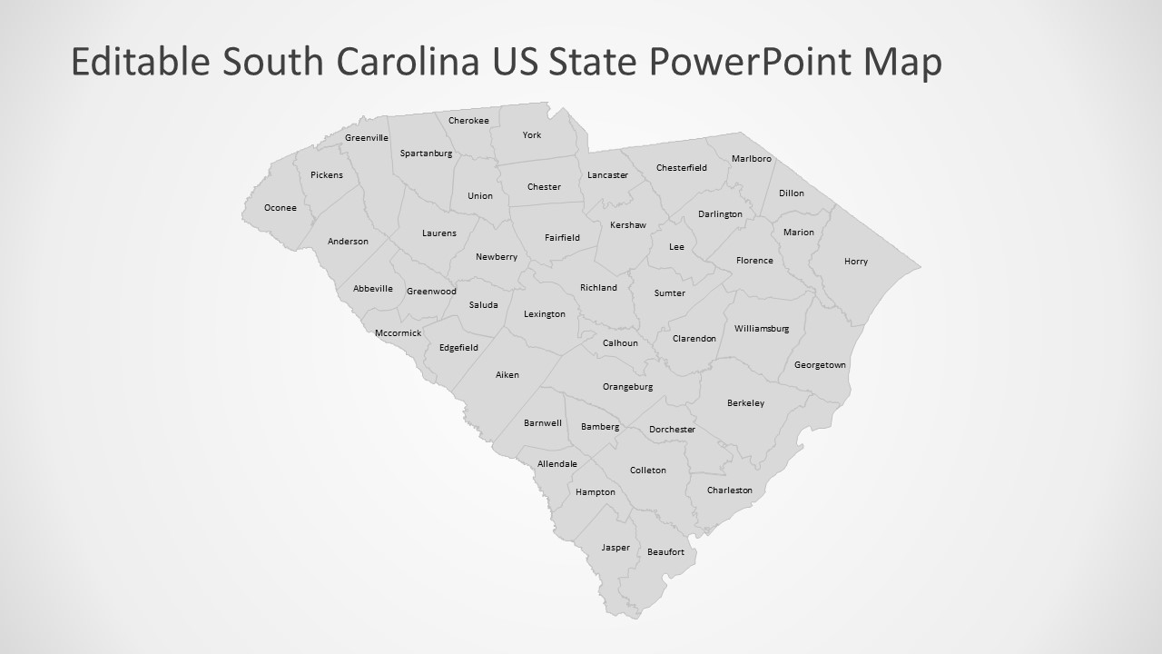South Carolina Us State Powerpoint Map Slidemodel