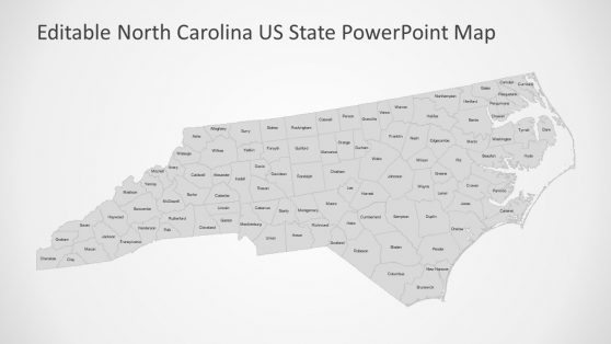 North Carolina PowerPoint 100 Counties