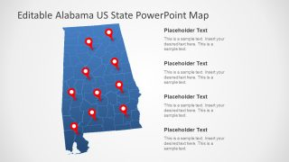 Alabama US State PowerPoint Map