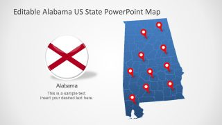Slide of Clipart Map Alabama US State