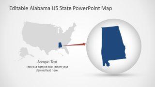 Highlight Alabama in US Map