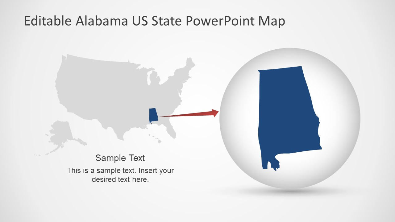 Highlight Alabama in US Map