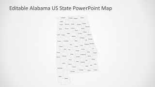 Counties in Alabama PowerPoint Map