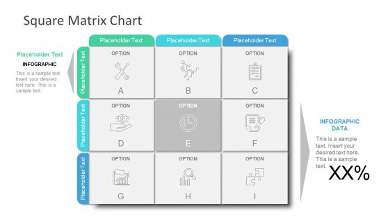 PowerPoint Template 3x3 Matrix