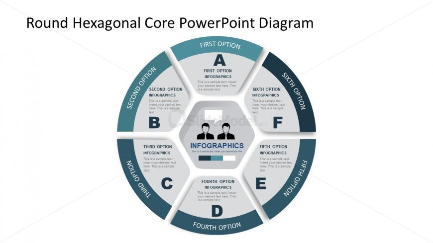 Hexagonal Core Template Slide