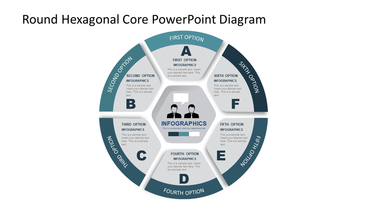Hexagonal Core Template Slide