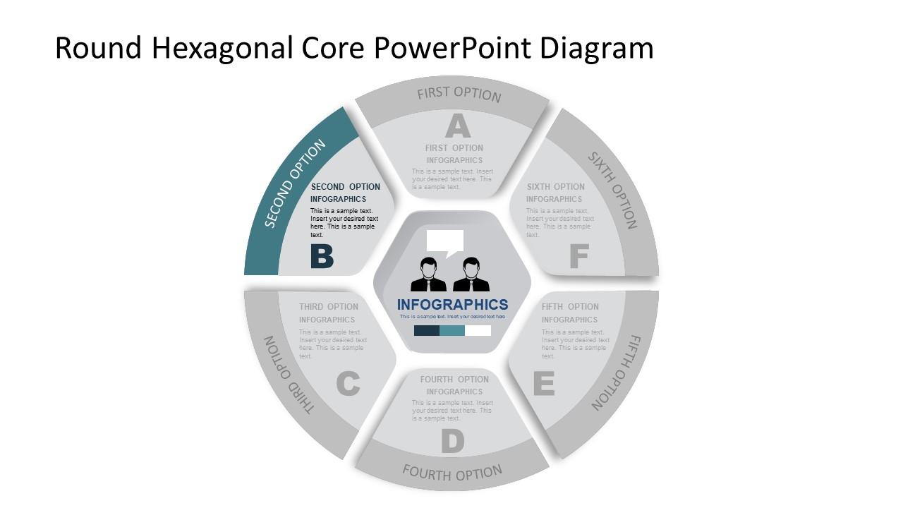 Hexagonal Center of PowerPoint