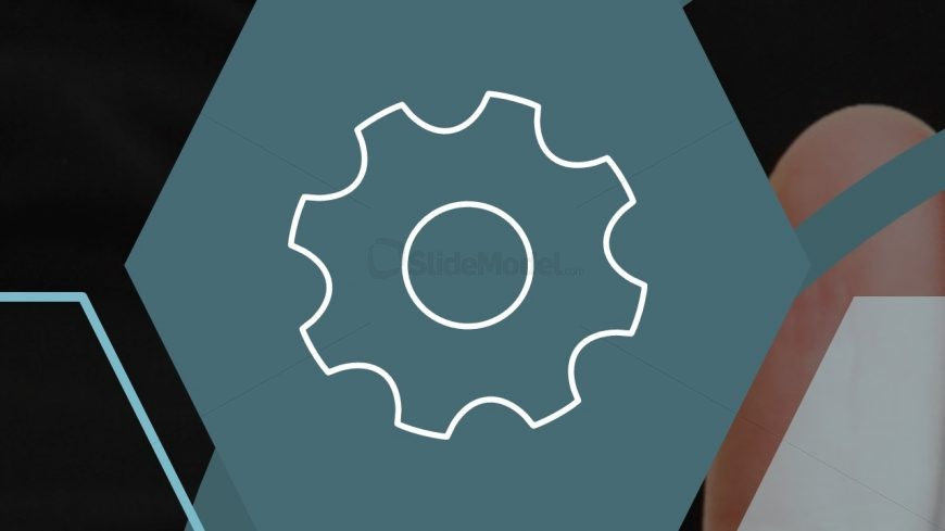 Template of Gear Icon in Business PPT
