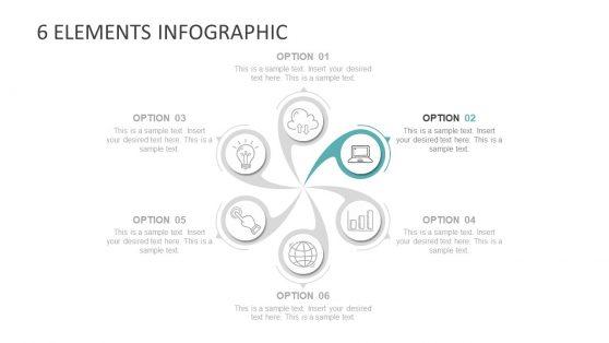 Presentation of Infographic Twirl Segments