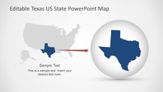 Zoom in Texas State Map