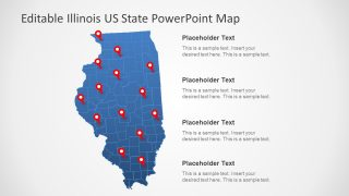 Illinois US State PowerPoint Map