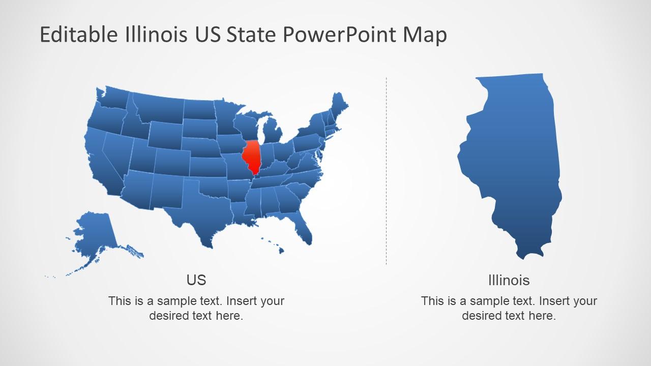 Illinois Us State Powerpoint Map Slidemodel