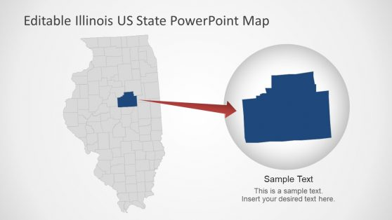 PPT Illinois Editable Map