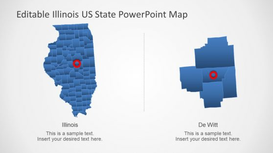 Counties of Illinois Map in PowerPoint