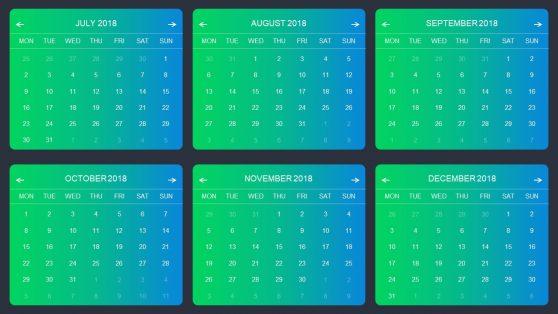 Editable Modern Metrics Calendar PPT