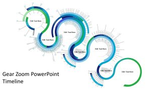 Gear Zoom PowerPoint Timeline