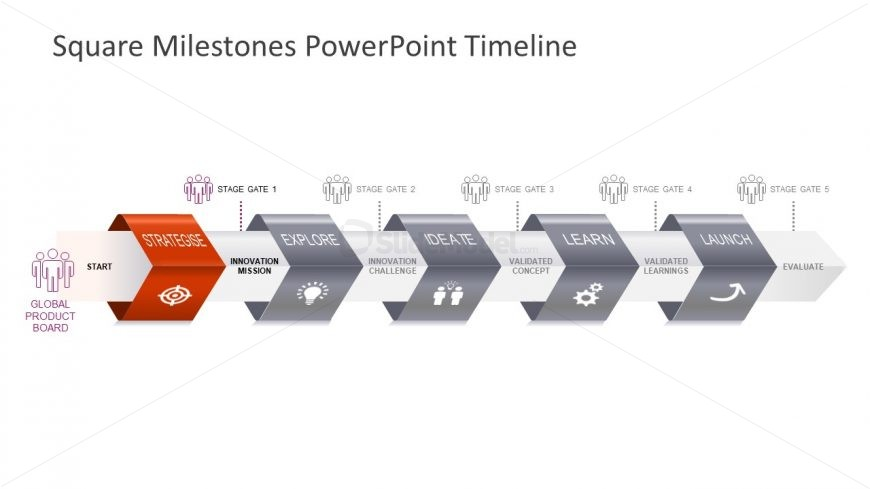 Infographic Template Horizontal Milestones