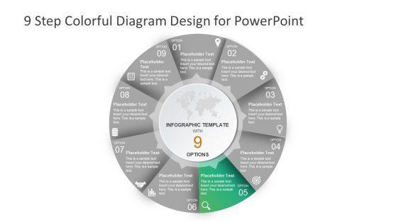 Useful Infographic 9 Step Circular Slide