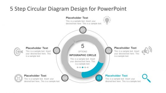 5 Step Doughnut Diagram Design
