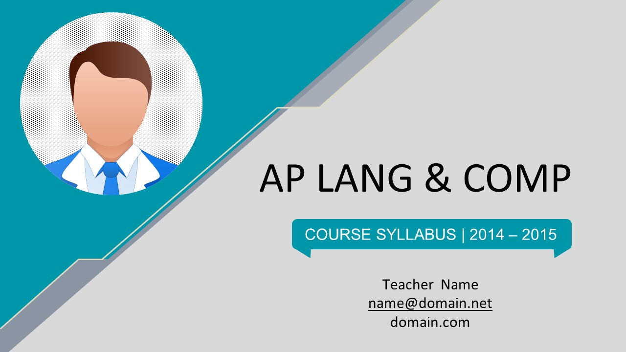 Flat Course Syllabus Powerpoint Templates