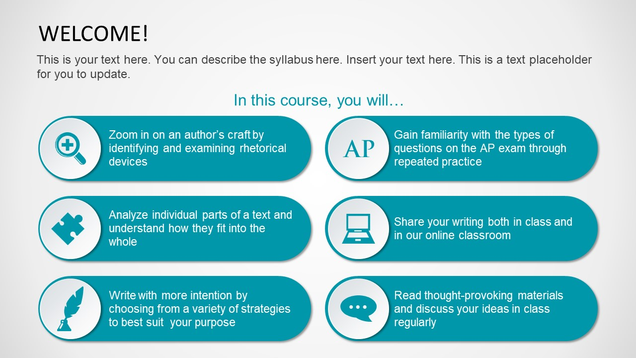 Infographic Template Syllabus Concept