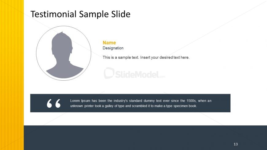 Business Template with Testimonial Format
