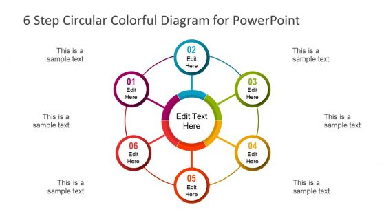 6 Step Circular Colorful Diagram PowerPoint Template
