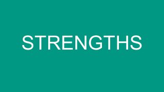 Zoom Effect SWOT Strength Segment