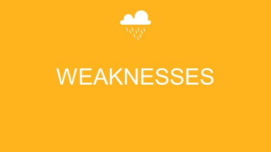 Slide of Weakness with Weather Icons