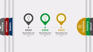 Three Milestones of Timeline Template