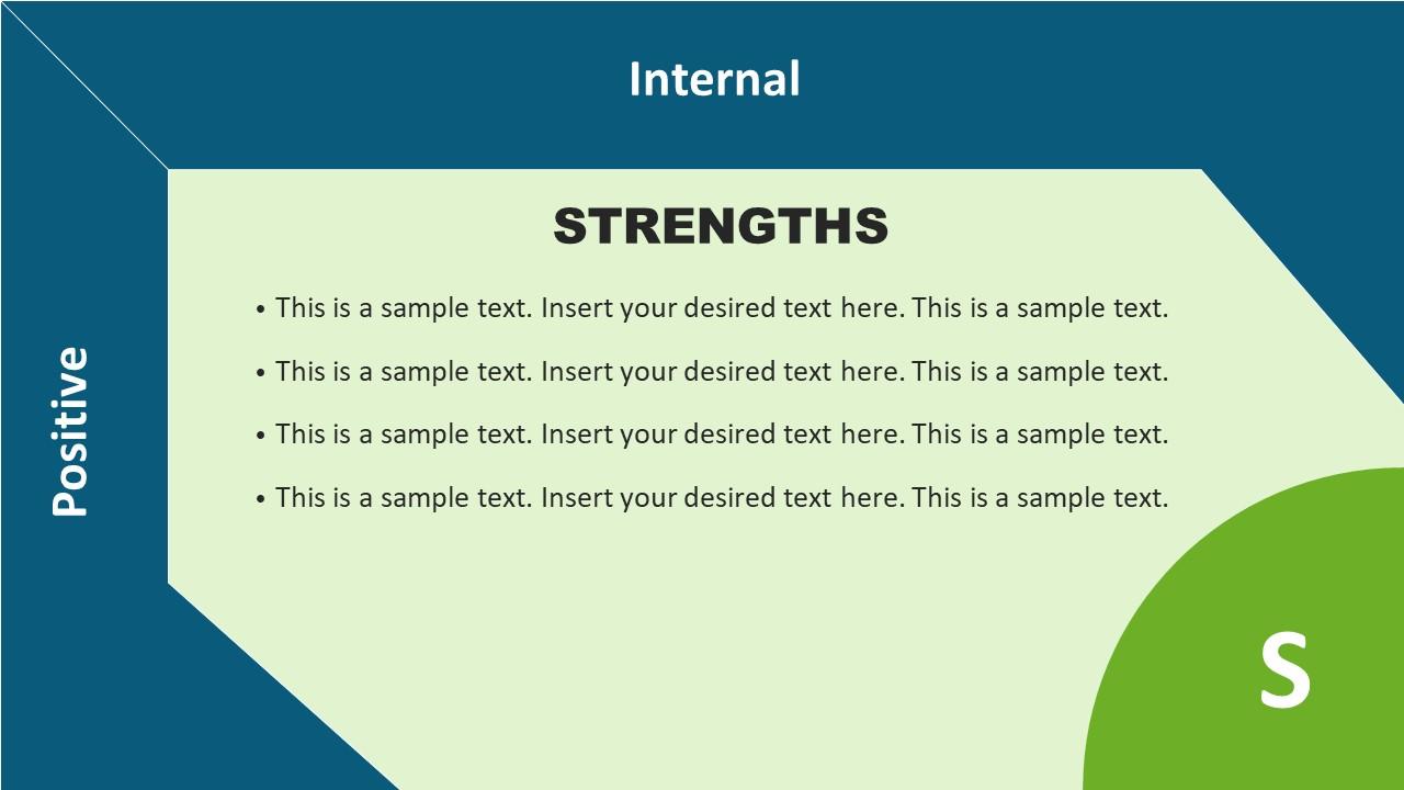 Strengths Template in Flat SWOT Matrix