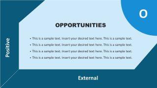 Opportunities Template in Flat SWOT Matrix