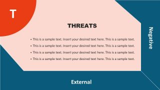 Threats Template in Flat SWOT Matrix