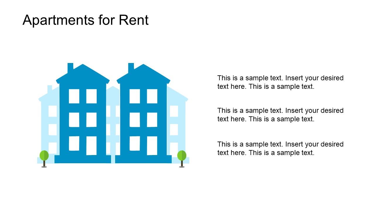 Powerpoint Property Rent Slide Slidemodel