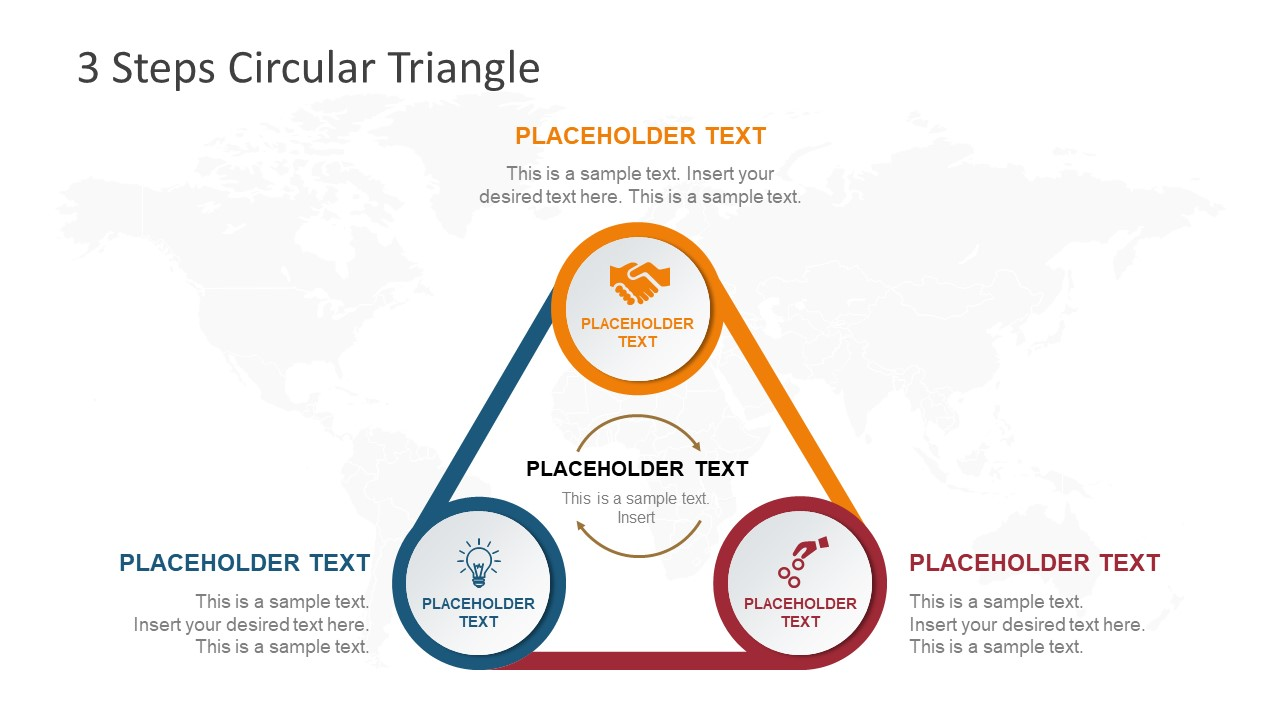 Infographic PowerPoint Triangle Cycle