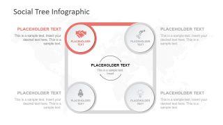 Square Diagram 4 Steps Process Flow