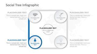 Slide of 4 Steps Diagram Process