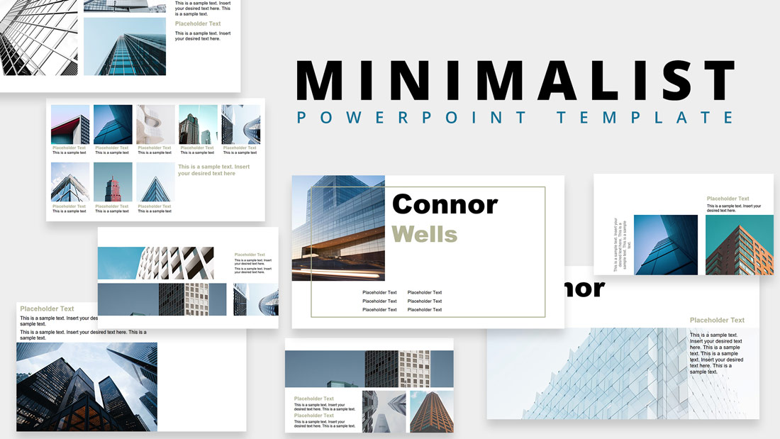 Minimalist Design Powerpoint Templates Slidemodel